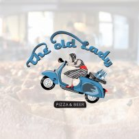 Let's Design Studio Nadia Ornstein - The Old Lady -Pizza and Beer Flea market Jaffa Branding